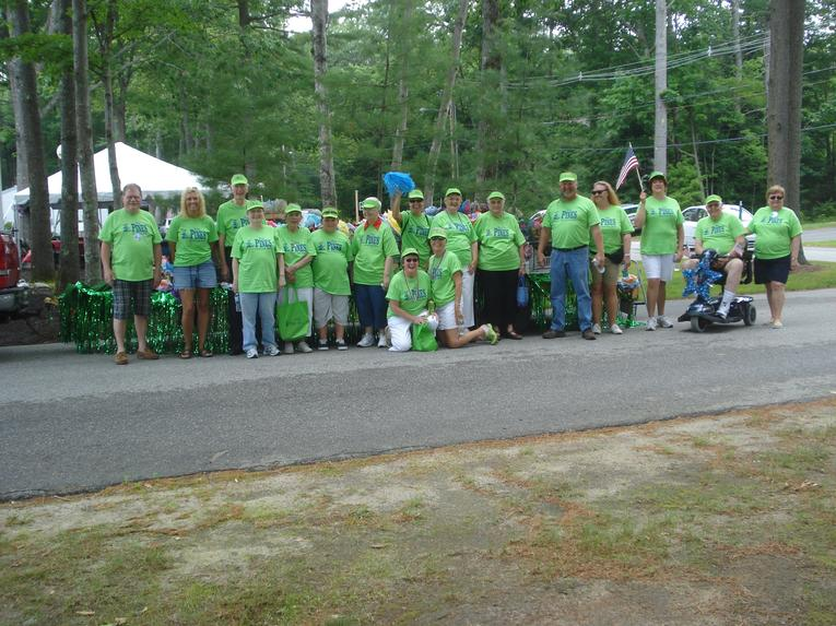 Residents and Volunteers at the 40th Anniversary
