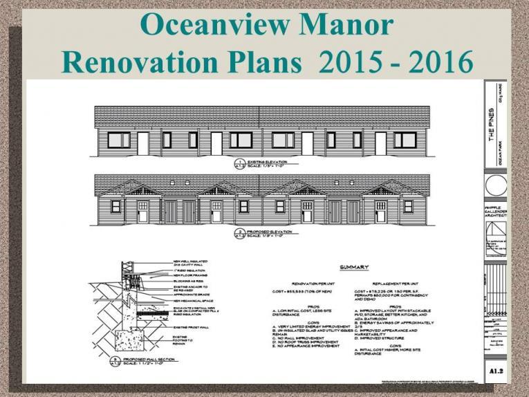 Oceanview Manor Renovation Plans 2015-2016