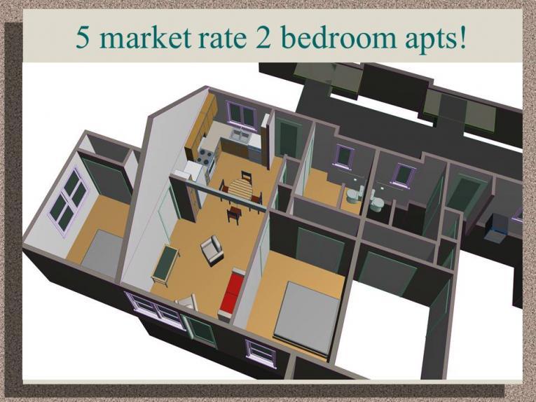 5 Market Rate 2 Bedroom Apartments