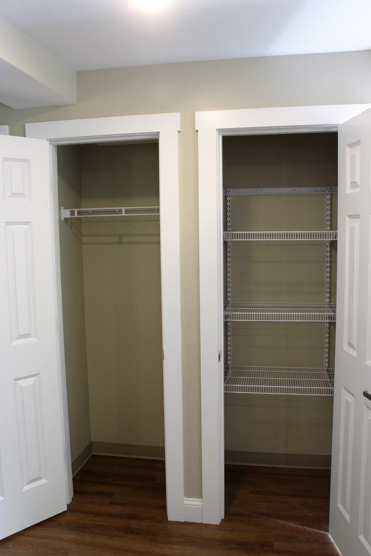 Open Kitchen Closets