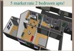 5 Market Rate 2 Bedroom Apartments